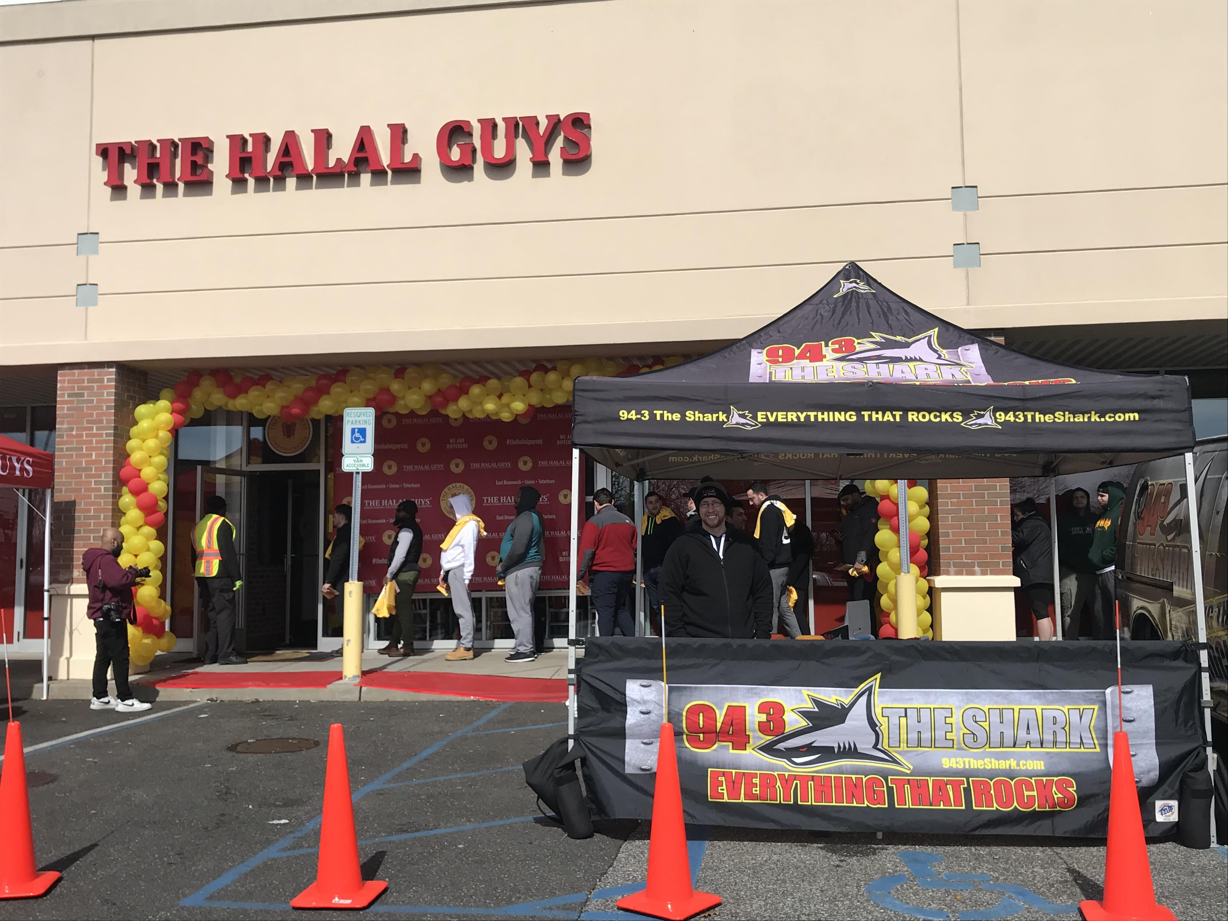 94.3 The Shark at the Grand Opening of the Halal Guys