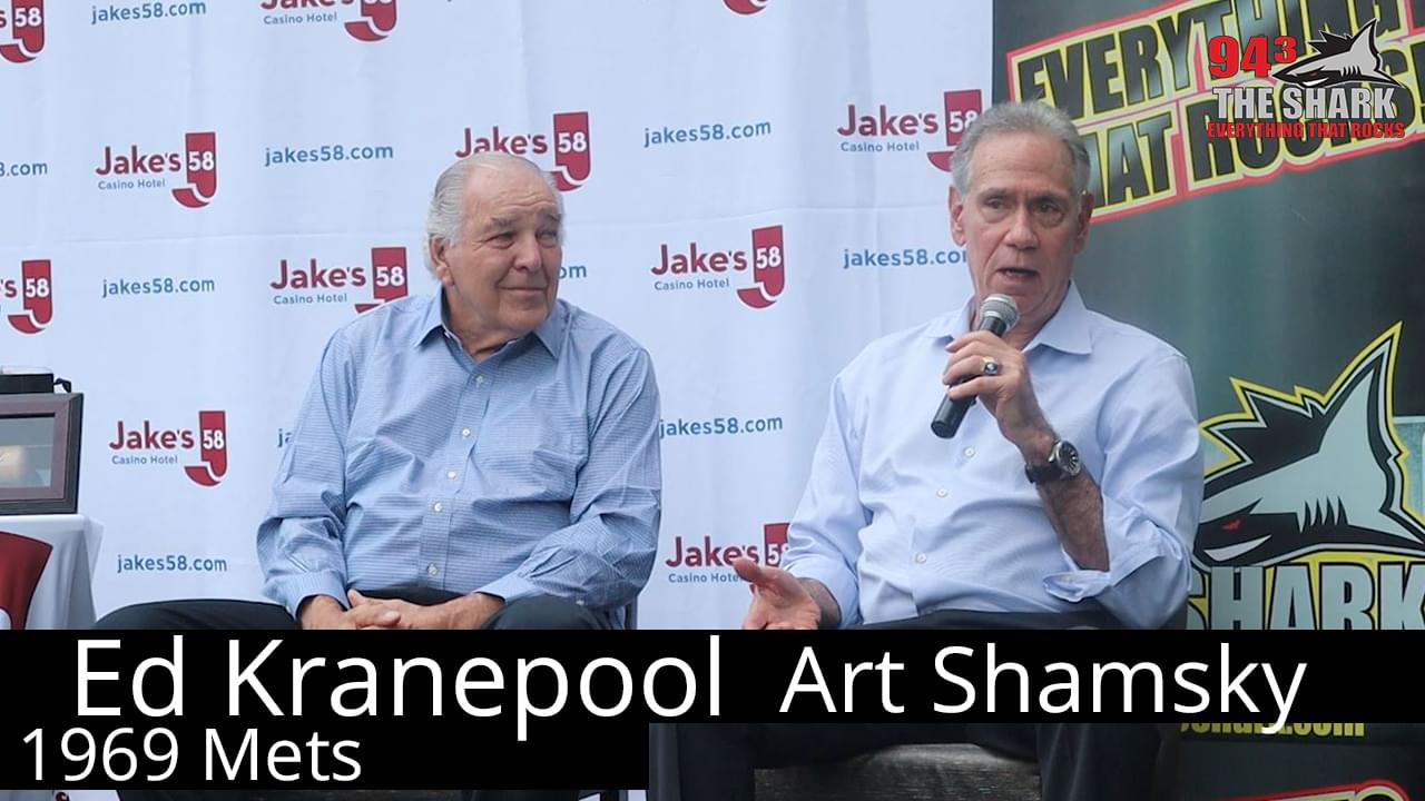 Rob chats with Ed Kranepool and Art Shamsky of the 1969 Mets
