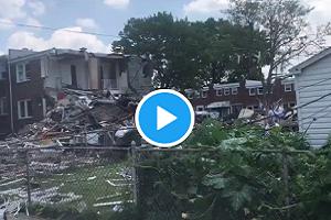 Baltimore: Video show damage & debris left after the gas explosion