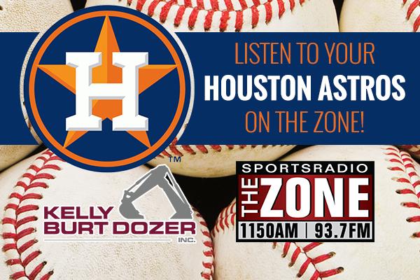 Astros Action TONIGHT on The Zone Thanks to Kelly Burt Dozer!