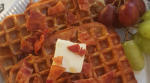 Maple French Toast Waffles with Crumbled Bacon