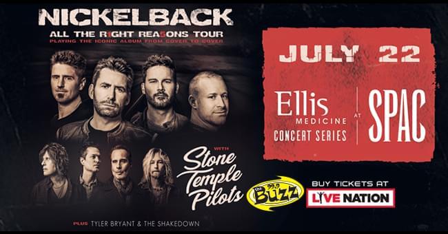 Nickelback at Saratoga Performing Arts Center 7/22