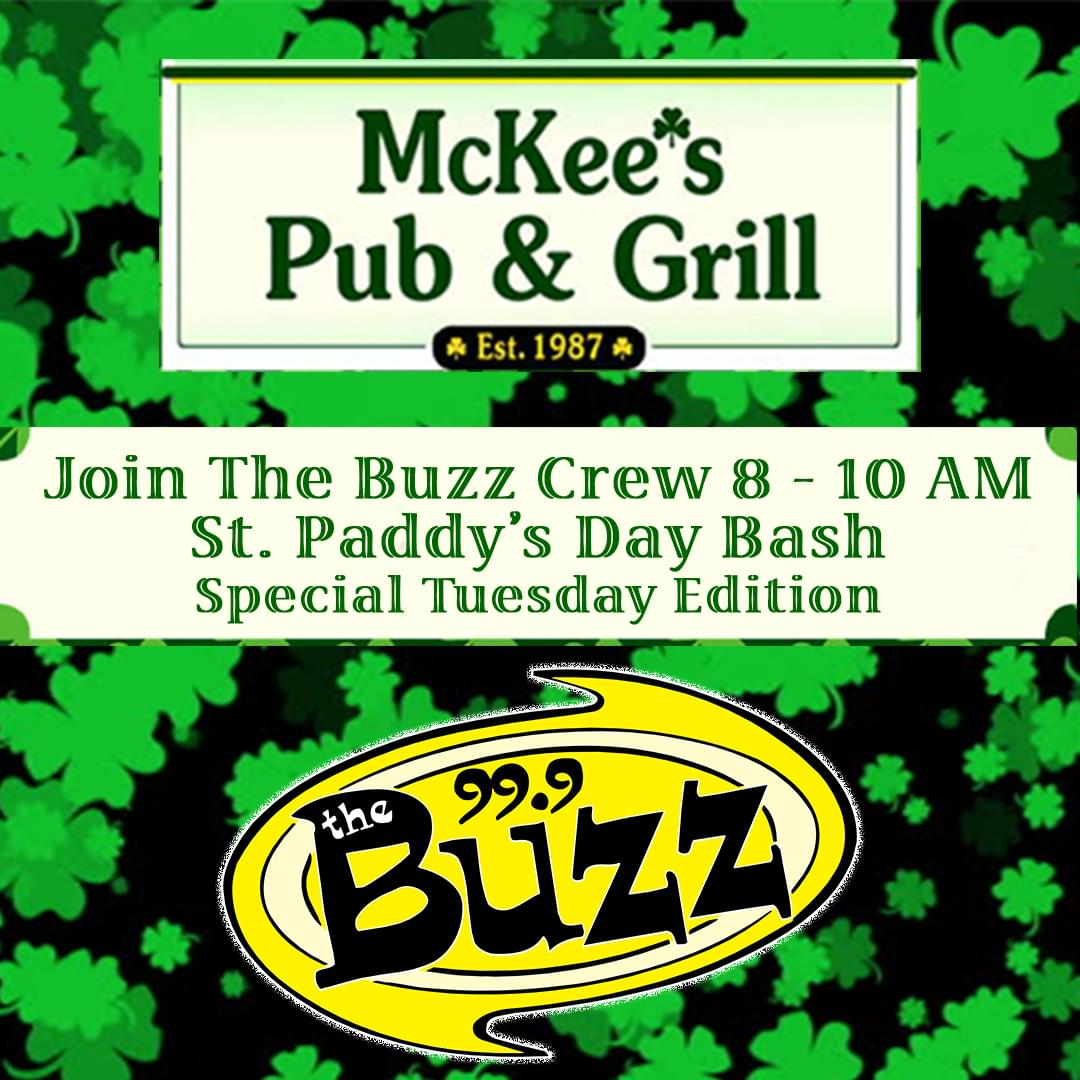 St. Paddy's Day Bash at McKee's Pub & Grill 3/17