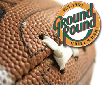 Win tickets to an NFL game from Ground Round!