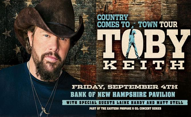 Toby Keith at Bank of New Hampshire Pavilion 9/4