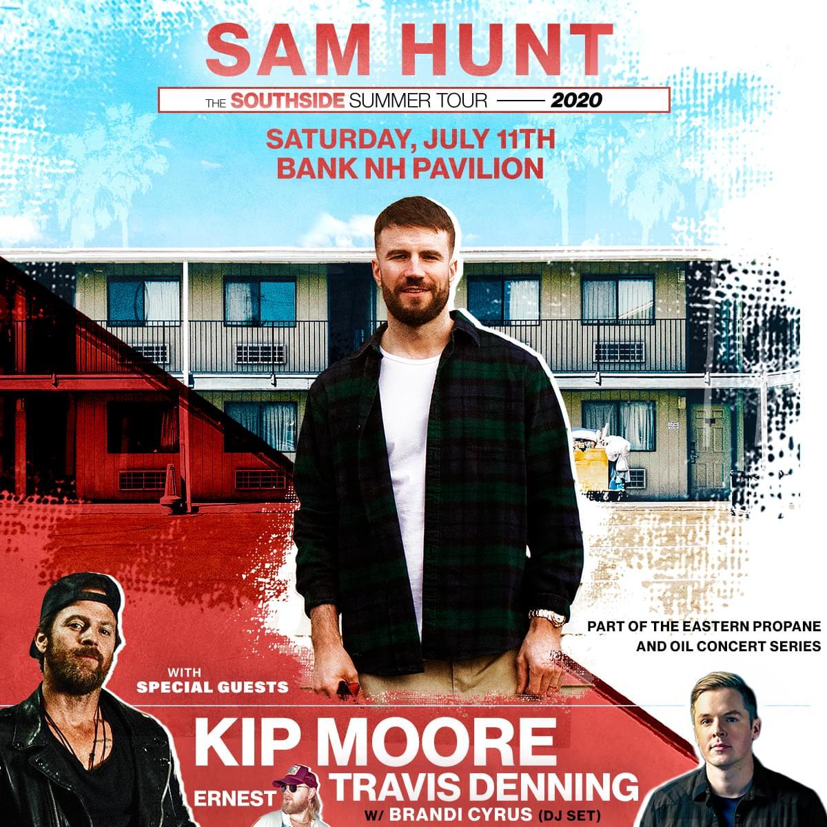 Sam Hunt at Bank of New Hampshire Pavilion on 7/11/20