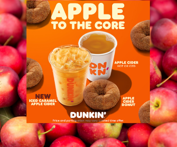 Get ready to fall for cider at Dunkin'