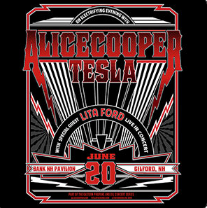 Alice Cooper and Tesla at Bank of New Hampshire Pavilion 6/20