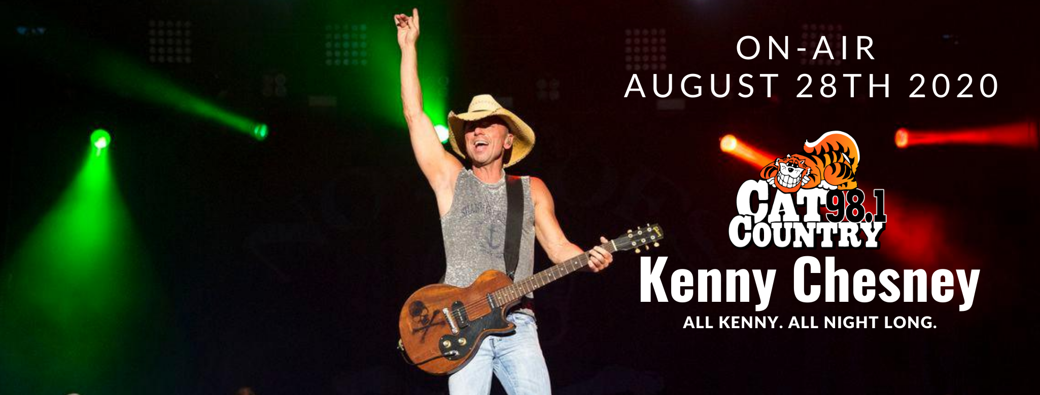 Kenny Chesney's Virtual Concert on Cat Country 98.1
