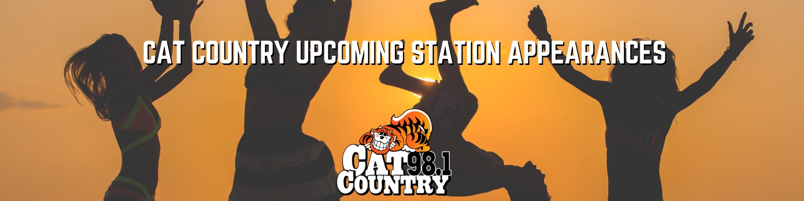 Upcoming Cat Country 98.1 Station Appearances