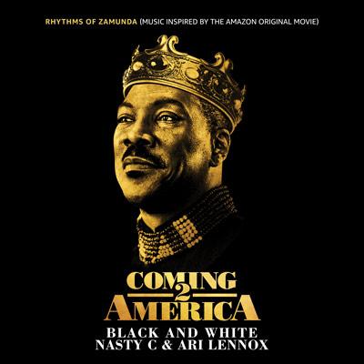 Album cover for Nasty C & Ari Lennox's new single, Black and White