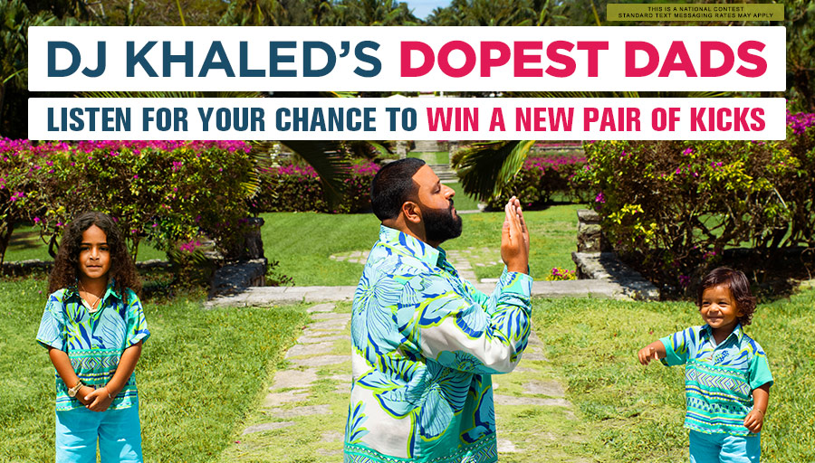 Listen for your chance to win a new pair of kicks!