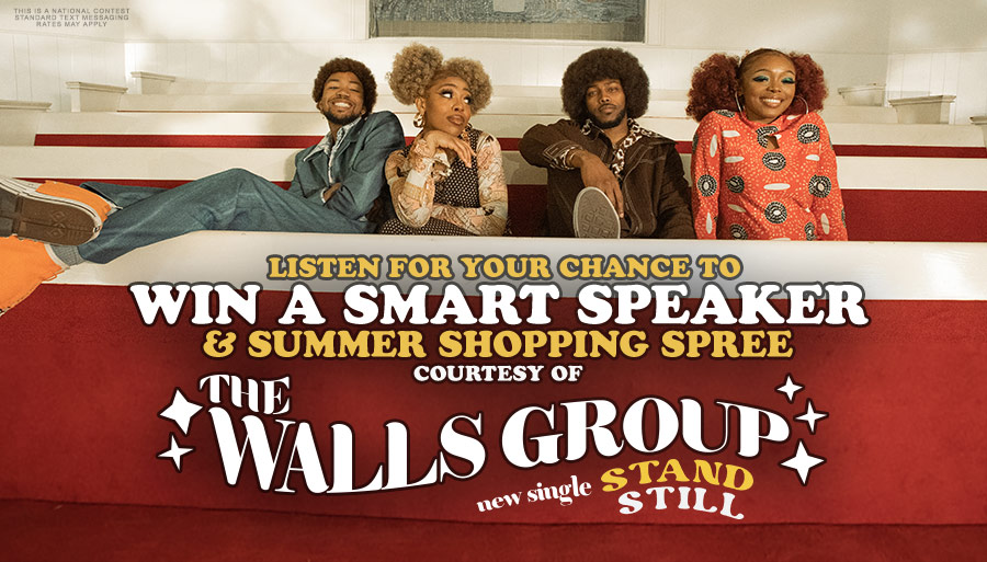 Listen for your chance to win a smart speaker with The Walls Group!