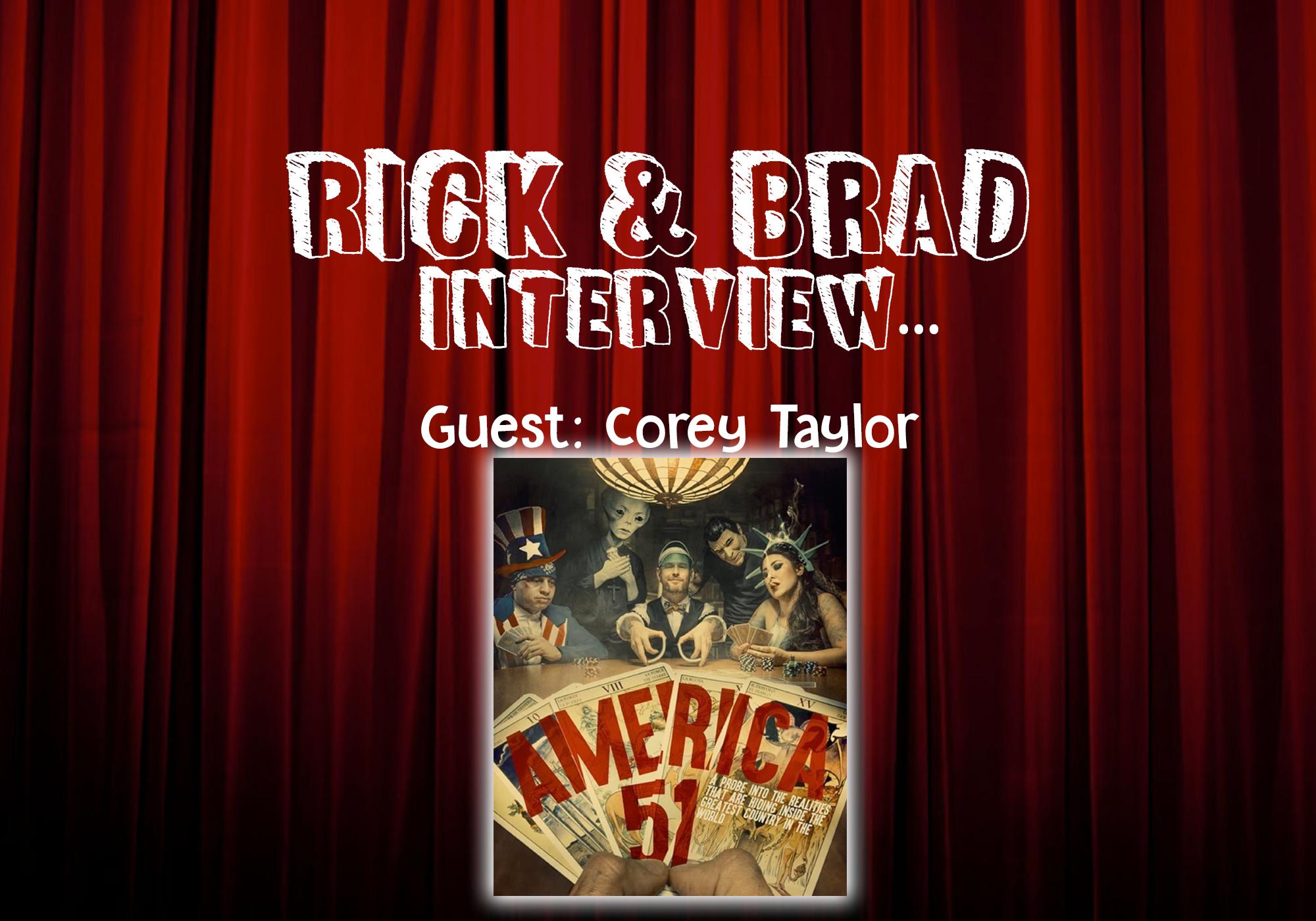 "Corey Taylor talks new book ""America 51"""
