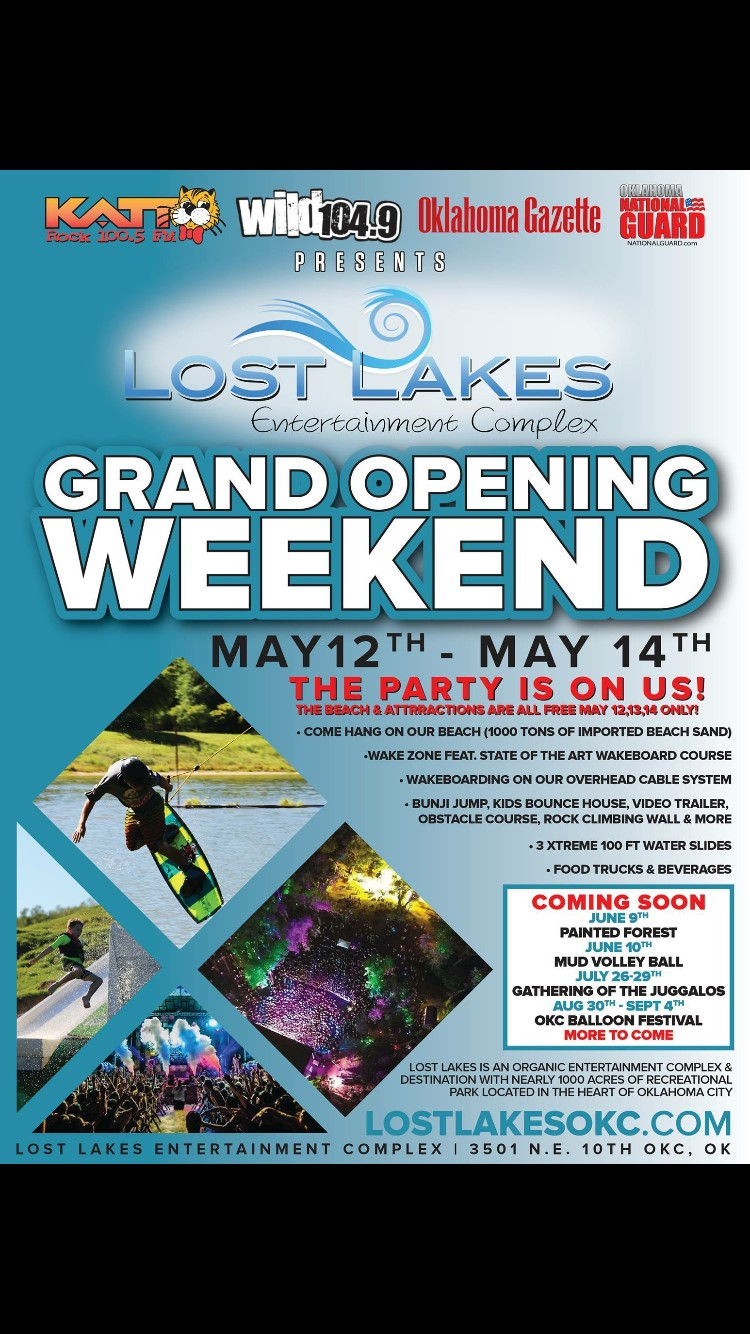 Lost Lakes Grand Opening Weekend!