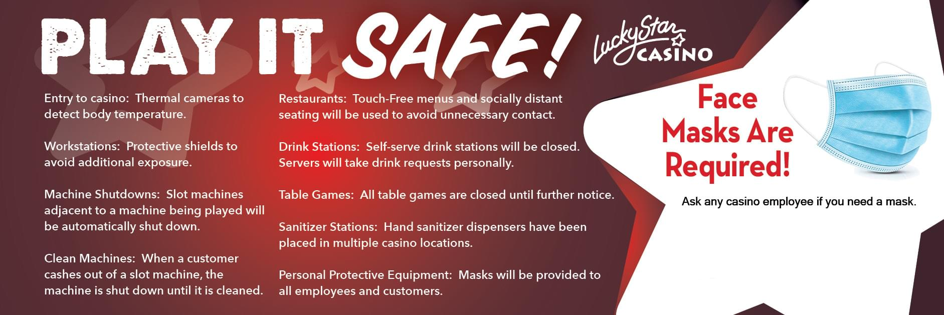 Play it Safe at Lucky Star Casino
