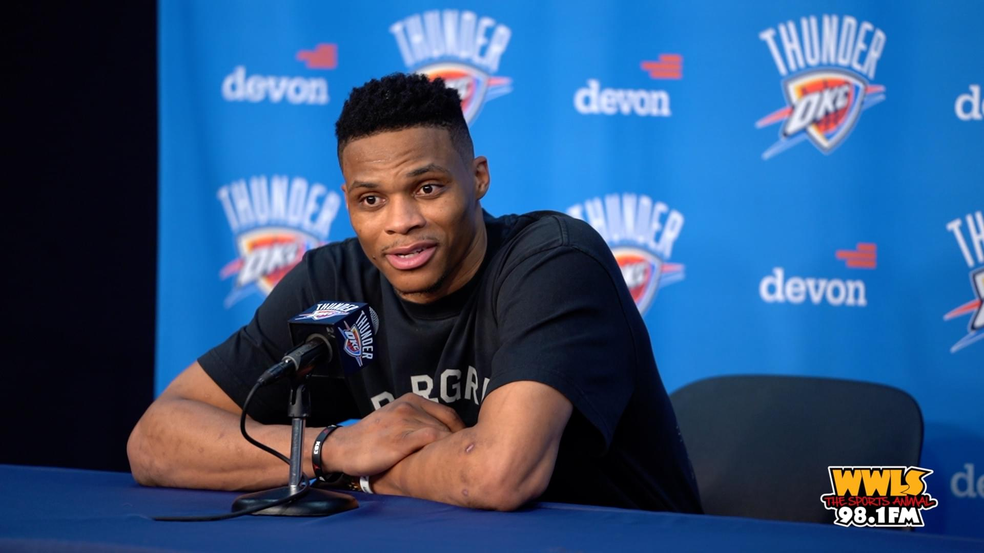 RUSSELL WESTBROOK AFTER RETURN TO OKC