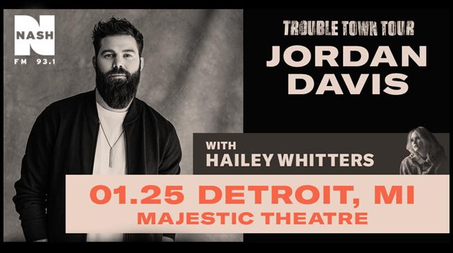 Jordan Davis Trouble Town Tour- January 25