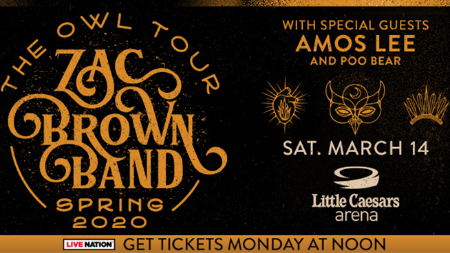 Zac Brown Band ~ Saturday, March 14