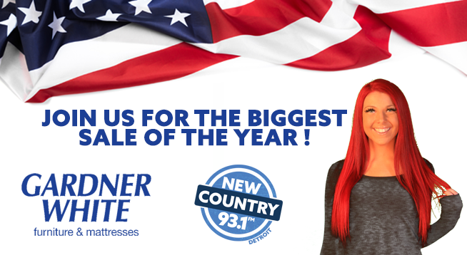 Join New Country 93.1 and Krissy at Gardner White in Macomb!