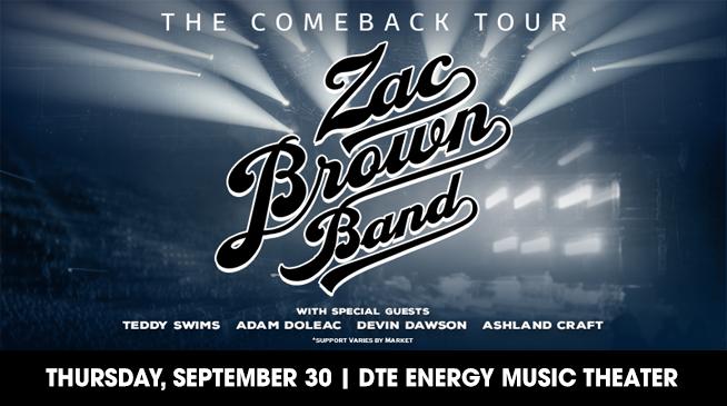 ZAC BROWN BAND | SEPTEMBER 30, 2021