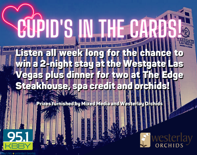 """95.1 KBBY's """"Cupid's In The Cards"""" Contest Official Rules"""
