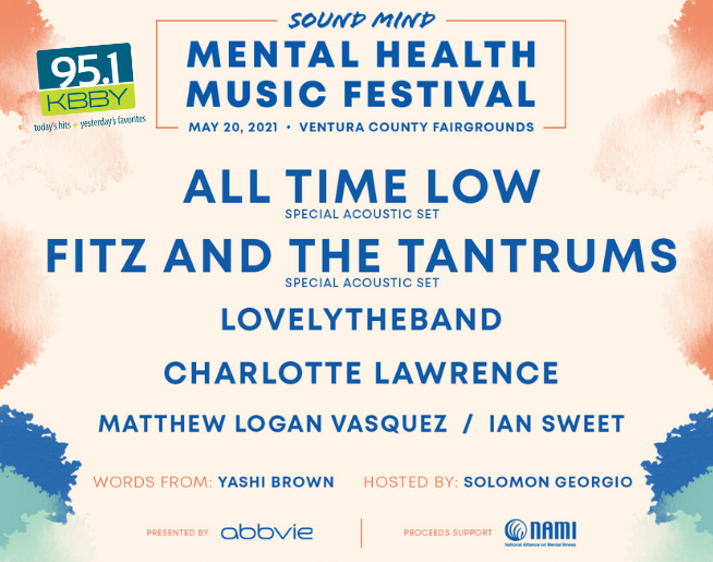 """95.1 KBBY's """"Sound Mind Mental Health Festival"""" Contest Official Rules"""