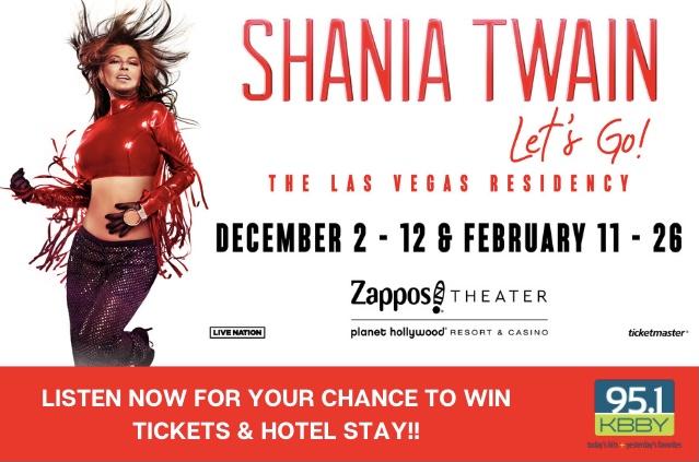 Shania Twain 'Text to Win' Contest