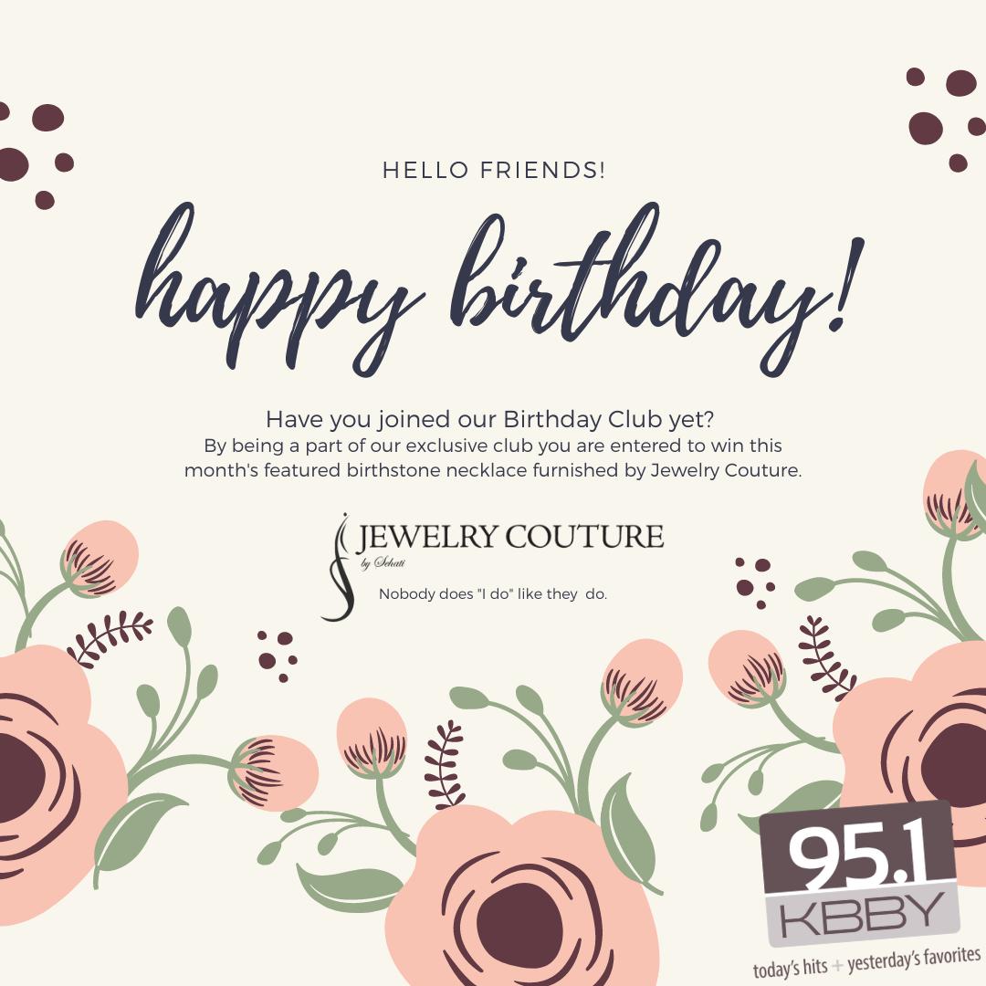 95.1 KBBY Birthday Club – Contest Rules – (2021 – 2022)