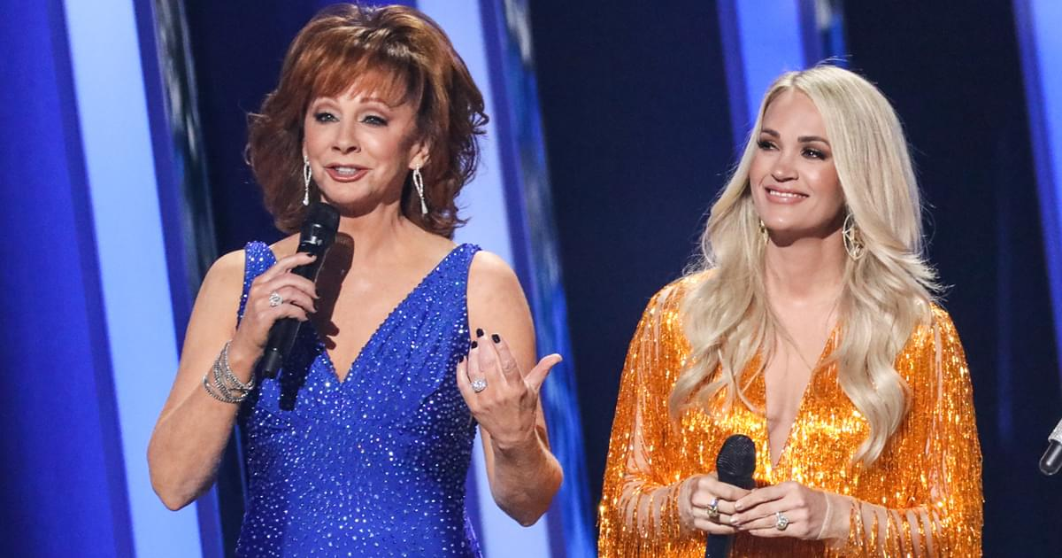 "Reba Says She's ""Thrilled With the Girls Getting Back in There"" for CMA Entertainer of the Year: ""Carrie Has Worked Her Tail Off"""