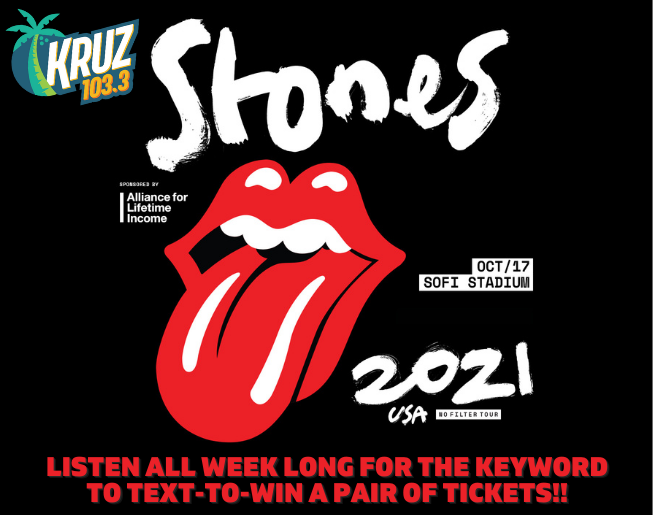103.3 KRUZ'sROLLING STONES 'TEXT TO WIN' Official Contest Rules