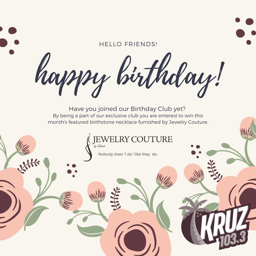 103.3 KRUZ Birthday Club