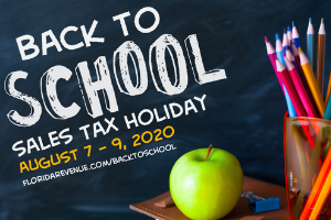 Back To School Sales Tax Holiday 2020