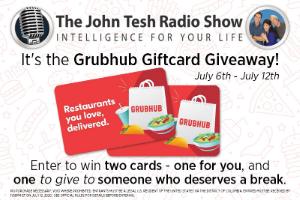 GrubHub Giftcard Giveaway!