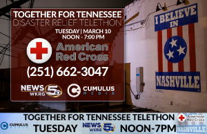 Together for Tennessee Telethon raises $13,770 for tornado victims