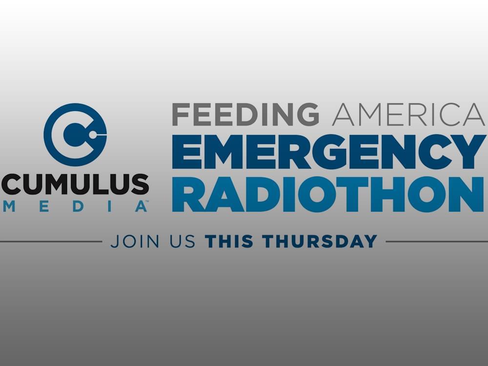 "Cumulus Stations to Air ""Feeding America Emergency Radiothon"" on April 30"