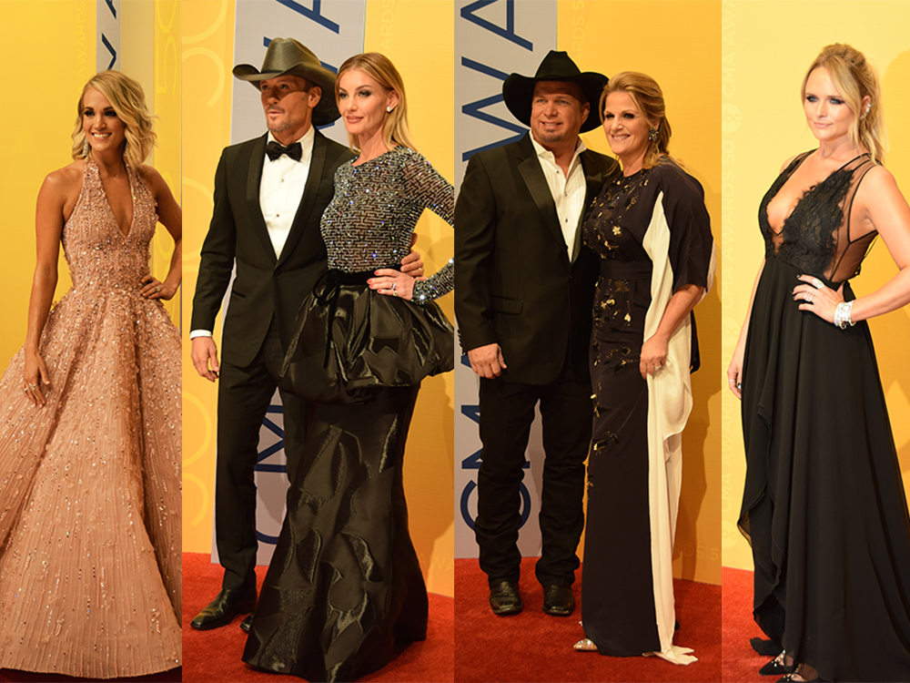 CMA 50th Anniversary Red Carpet Photo Gallery: Carrie Underwood, Tim and Faith, Miranda Lambert, Garth and Trisha and More
