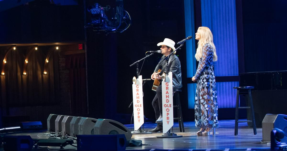 """Watch Carrie Underwood & Brad Paisley Duet """"Whiskey Lullaby"""" on the Opry"""