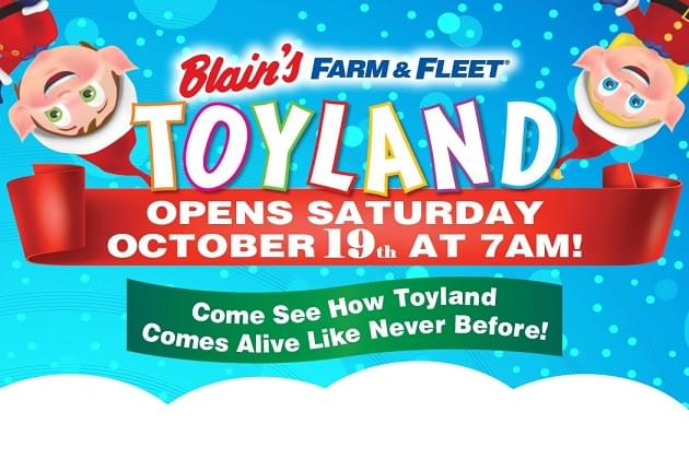 Farm & Fleet's Toyland Opens This Saturday!
