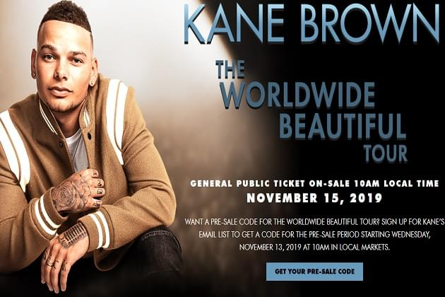 Kane Brown Tour 2020.Kane Brown Is Coming Back Win Tickets In Our Country Club
