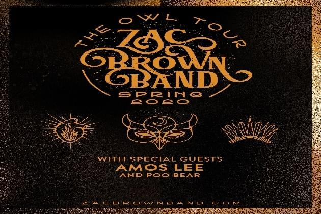 Zac Brown Band February 2020. Listen To Win On 973 Nash FM
