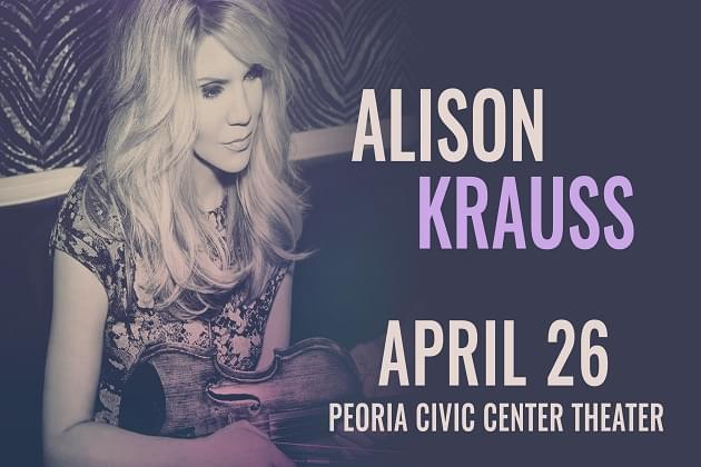 Alison Krauss Hits Peoria in April 2020