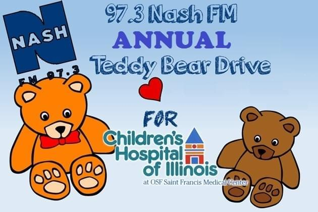 Drop Off Locations Announced For Our 973 Nash FM Teddy Bear Drive With OSF Childrens Hospital