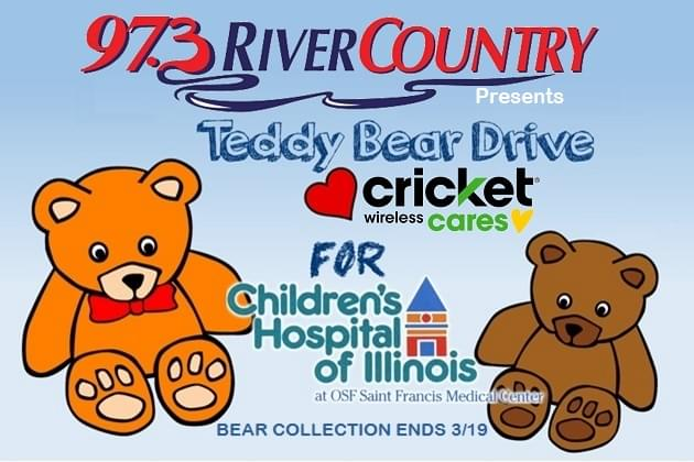 Final Week Of 973 River Country FM Teddy Bear Drive With OSF Childrens Hospital