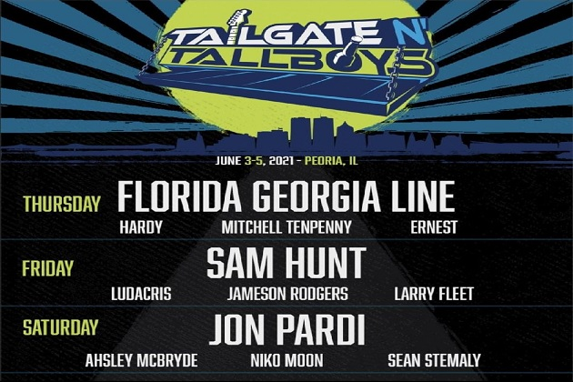 Win! Florida Georgia Line, Sam Hunt, Jon Pardi Join Tailgate N Tallboys In Peoria June 2021