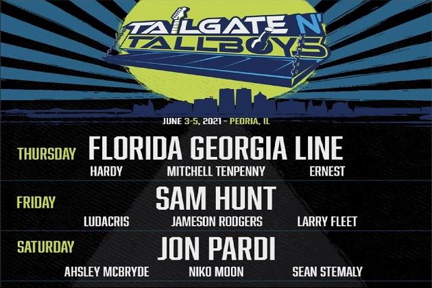 Win! Florida Georgia Line, Sam Hunt, Jon Pardi Join Tailgate N Tallboys In Peoria June 2021