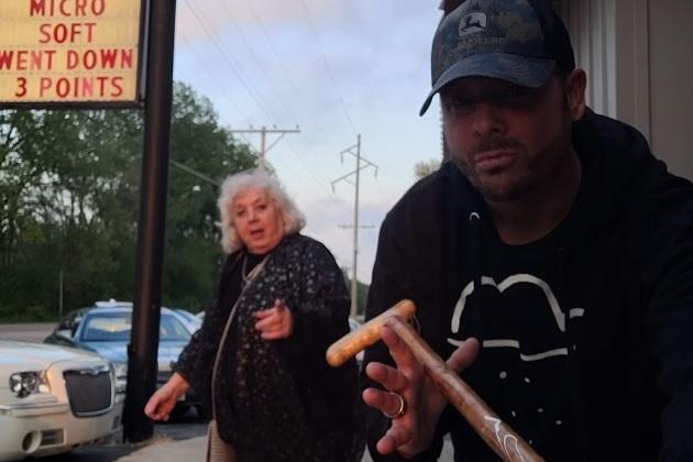 Brian Explains Neck & Back Care, Using This Nice Ladies Cane