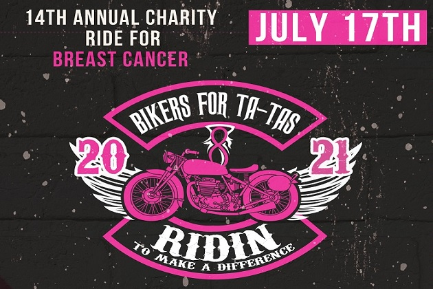 14th Annual Bikers For Ta-Ta's Returns July 17