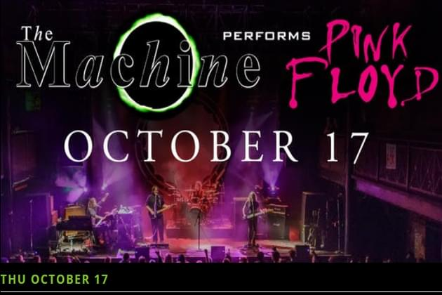 """Don't Miss Pink Floyd Tribute """"The Machine"""" at The Monarch Music Hall October 17th"""