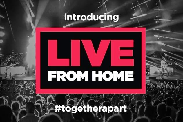 Live From Home Is Live Nation's Online Way To Connect To Live Music!